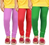 #8: Goodtry Girls Viscose Leggings Pack of 3-Onion,Red,Green
