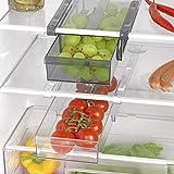 GOURMETmaxx Klemm-Schublade XXL für Kühlschrank 2er-Set Schublade Aufbewahrungsbox Kühlschrankbox Schublade Aufbewahrungskiste Gemüsefach Kühlfach Gemüseschale Fach Zusatzfach schwarz/weiß