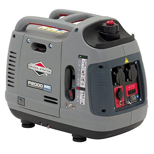 Briggs & Stratton Powersmart 2000Generator Inverter tragbar Benzin Powersmart Series P2000-Stromversorgung eigenen 2000Watts/1600Watt, Ultra Leise und leicht, grau