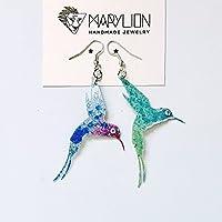 Orecchini colibrí - Orecchini - Novità orecchini - Orecchini bigiotteria - Uccellino bigiotteria - Uccellini ciondoli - Uccelli gioielli