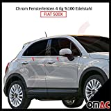 Fiat 500X Chrom Fensterleisten 4tlg V2A aus Edelstahl