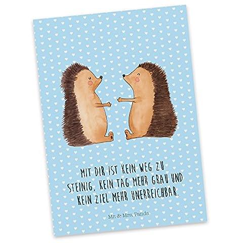 Mr. & Mrs. Panda Postkarte Igel Liebe - 100% handmade in Norddeutschland - Liebe, Verliebt, Verlobt, Verheiratet, Partner, Freund, Freundin, Geschenk Freundin, Geschenk Freund, Liebesbeweis, Jahrestag, Hochzeitstag, Verlobung, Geschenk Hochzeit, Igel, Igelpaar, Igelchen Postkarte, Geschenkkarte, Grußkarte, Klappkarte, Karte, Einladung