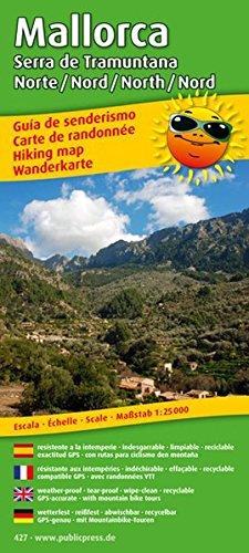 Wanderkarte / Hiking Map Mallorca - Serra de Tramuntana Nord / North 1 : 25 000: Mit Mountainbike-Touren, wetterfest, reissfest, abwischbar, GPS-genau
