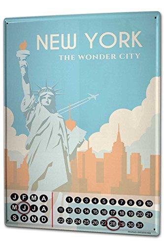 calendario-perpetuo-retro-wall-art-metropole-nueva-york-estatua-libertad-metal-imantado