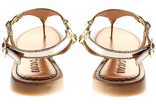 Inuovo 7267 - Damen Sandalette Pantolette Zehentrenner Gold