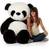 Generic Ns Enterprises Store Soft Teddy Bear Birthday Gift For Girlfriend/Wife Happy Birthday Teddy Soft Panda Teddy Black And White 3 Feet