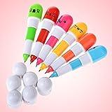 Hanbaili 50 Stücke Lächelndes Gesicht Mini Retractable Pille Kugelschreiber Neuheit Kapsel Kugelschreiber Favor Geschenk für Studenten