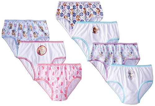 Click for larger image of Handcraft Little Girls' Disney Frozen 7 Pack Panty, Assorted, 8
