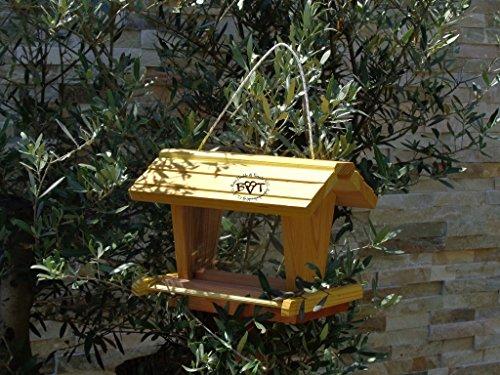 vogelhaus mit ständer BEL-X-VOFU2G-MS-gelb002 Großes PREMIUM Vogelhaus mit ständer + 3D-Riesensilo / Futterschacht Futterautomat MASSIV + WETTERFEST, QUALITÄTS-SCHREINERARBEIT-aus 100% Vollholz, Holz Futterhaus für Vögel, MIT FUTTERSCHACHT Futtervorrat, Vogelfutter-Station Farbe gelb kräftig sonnengelb goldgelb, Ausführung Naturholz, mit KLARSICHT-Scheibe zur Füllstandkontrolle - 3