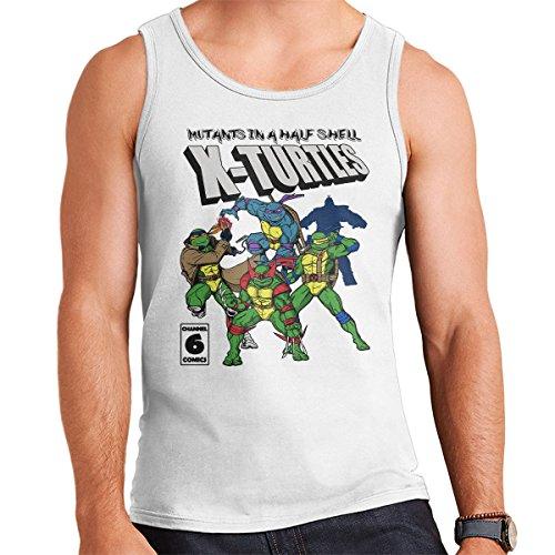 Mutants In A Half Shell X Turtles TMNT X Men Men's Vest White