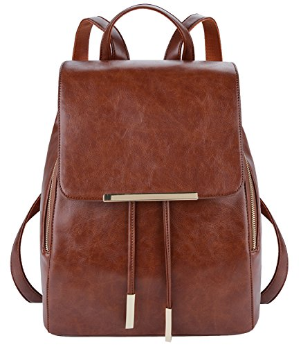 Rucksack Damen,COOFIT Damen Rucksack Elegant Lederrucksack Damen Leder Rucksack für Mädchen Schultasche...