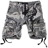 Surplus Herren Airborne Vintage Cargo Shorts, Nightcamo, Gr. S