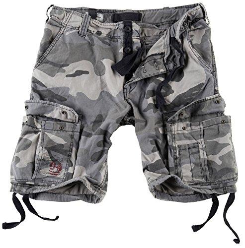 Surplus Herren Airborne Vintage Cargo Shorts, Nightcamo, Gr. L (Shorts Militär)
