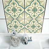Boubouki Wasserabweisende Fliesenaufkleber RIMAL 11 für Bad und Küche | 15 x 15 cm