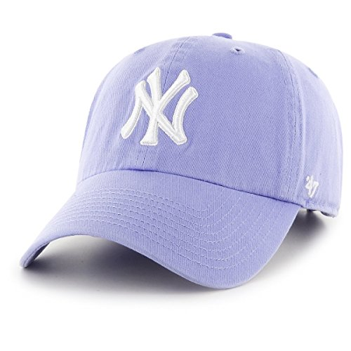 47 Brand New York Yankees Cap MLB Clean Up Relaxed 'n' Curved lavender
