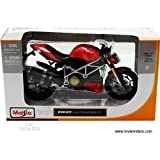 31197 Maisto - Ducati Mod. Streetfighter S Motorcycle (1:12, Red) 31197 Diecast Car Model Auto Vehicle Automobile Metal Iron Toy by carolirala