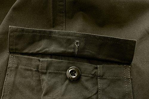 Wantdo Pantaloncini Uomo Cargo Con Multi Tasche Verde militare