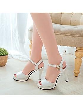 SDKIR-Grossolana con sandali, femmina estate con punta di pesce di alta scarpe tacco, acqua la perforazione di...
