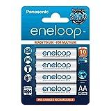 Panasonic eneloop, Ready-to-Use Ni-MH Akku, AA Mignon, 4er Pack, min. 1900 mAh, 2100 Ladezyklen, geringe Selbstentladung