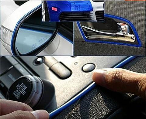 4Mmx3M Blue Flexible Trim Zierleiste für Innen Edge Lüftungsgitter Panel Hoods, Rad Gap Trim/Spiegel Cover Trim/Bumper & Fender Trim/Side Vent und Rohr Trim