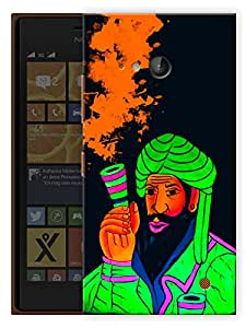 """Humor Gang Smoke Chillum Neon Art Green Trippy Printed Designer Mobile Back Cover For """"Nokia Lumia 730"""" (3D, Matte Finish, Premium Quality, Protective Snap On Slim Hard Phone Case, Multi Color)"""