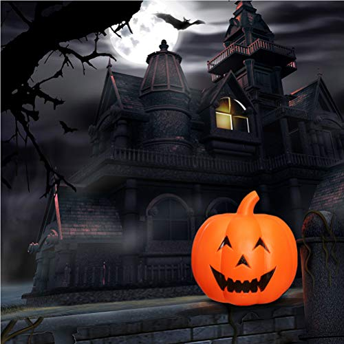 6e2b6041daf6b Healifty Calabaza de Halloween Decoración Ligera Lámpara acústica de música para  niños.