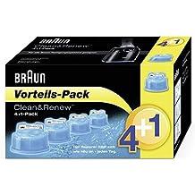 Braun Clean & Renew Reinigungskartuschen CCR 4+1 für Series 3-9 Elektrorasierer, 5 Stück