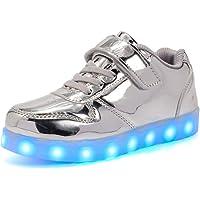 Licy Life-UK Unisex Bambini Ragazzi Ragazze Scarpe Sneakers LED Lampeggiante USB Ricaricabile 7 Colori Colorati Regalo…