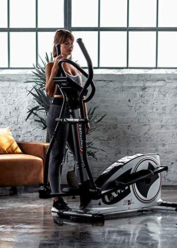Christopeit Unisex- Erwachsene Crosstrainer Ergometer CXM 7, Silber/schwarz, ca. L 134 x B 69 x H 158 cm