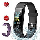Semaco Pulsera Actividad Inteligente Pantalla Color de Deporte GPS Pulsómetro Monitor de Ritmo Cardíaco Impermeable IP68 Reloj Inteligente Podómetro para Hombre Mujer o Niños (Morado+Negro)