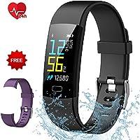 Semaco Pulsera Actividad, Inteligente Pantalla Color Reloj con Pulsómetro Impermeable IP68