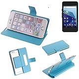 K-S-Trade Flipcover für Archos Access 45 4G Schutz Hülle Schutzhülle Flip Cover Handy case Smartphone Handyhülle blau
