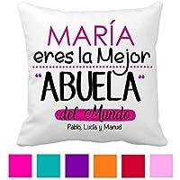 Cojin Abuela/Personalizado/Tamaño 40x40 cm/Regalo Original Abuelita/Cumpleaños/Dia de la Madre/Aniversario/Navidad