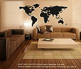 Stickerkoenig Wandtattoo Weltkarte World Map Motiv II XXXL Groß 220x114cm Wandsticker Wandaufkleber FARBE: A: Schwarz