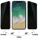 Apple iPhone X iPhone 10 Película protectora Película protectora | Vidrio blindado con protección de privacidad para pantalla completa redondeada | Película protectora de privacidad resistente a arañazos de vidrio templado fino | Frente