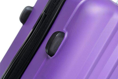 TSA-Schloß 2080 Hangepäck Zwillingsrollen neu Reisekoffer Koffer Trolley Hartschale XL-L-M(Boardcase) in 12 Farben (Lila, M) - 5