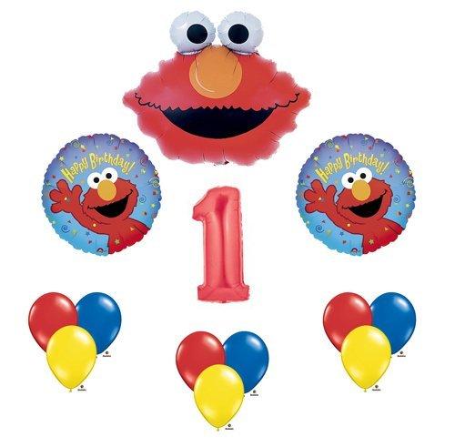 Elmo Sesame Street #1 1st First Birthday Party Supply Balloon Mylar Latex Set by Anagram