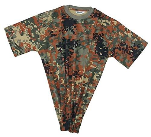 Commando US Army T-Shirt mit Tarnmuster Tarnshirt Kurzarm Rundhals Herrenshirt (Flecktarn/XL) (Industrie-kurzarm-baumwolle)