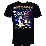 Iron Maiden Legacy Beast Fight T-shirt Schwarz Offiziell Zugelassen Musik