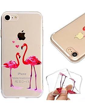 Hülle für iPhone 5 5S,Transparent Schutzhülle für iPhone SE 5S 5,Leeook Niedlich Kreativ Lustig Interessant Rosa...