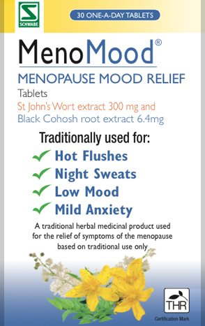 MenoMood Black Cohosh & St John's Wort Tablets 30 per pack Test