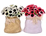 Tiedribbons Flowers Vase With Artificial...