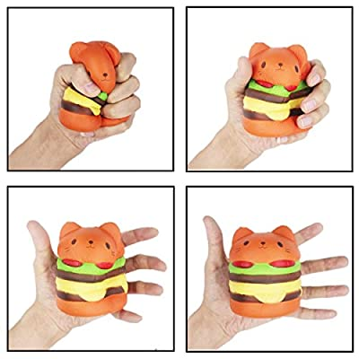 LifenC Slow Rising Squishy toys, Squishies Jumbo Scented Squishy Squeeze Toy Stress Reliever Gift for Girls Boys Adults (Cat Burger fries Galaxy Unicorn)