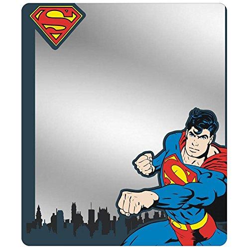 (Buckle Down Superman–Skyline Blues Locker Spiegel Neuheit 15,2x 17,8cm)