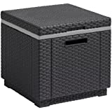 Allibert Outdoor Ice Cooler Bucket Box Garden Furniture with Cushion - Graphite