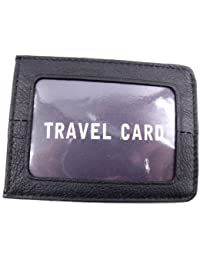 NEW MENS LADIES STURDY LEATHER TRAVEL/ BUS PASS/ ID/ CREDIT CARD HOLDER IN VARIOUS COLOURS