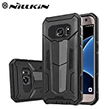 Nillkin Defender-II Dual Layer Shockproof Stand Bumper Back Case Cover for Samsung Galaxy S7 Edge - Black