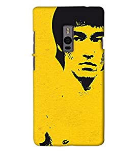 Go Yankee Bruce Lee illustration Back Case Cover For One Plus Two