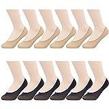 MANZI Damen 12 Paar Anti Slip Seidig Low Cut Füßlinge Unsichtbare