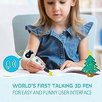 Pluma 3D Impresion, Nulaxy 3D Pen Niños Adultos, Pluma 3D Profesional con Filamentos, 3D Pluma Inteligente Kid Pen Set para Drawing Printing Estereoscópica Garabatos el Mejor Regalo de Cumpleaños